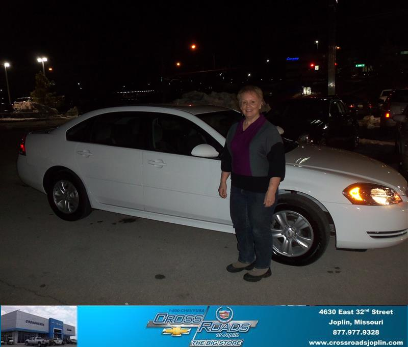 Wilson Cadillac: Congratulations To Donna Wilson On The 2012 Chevrolet Impa…