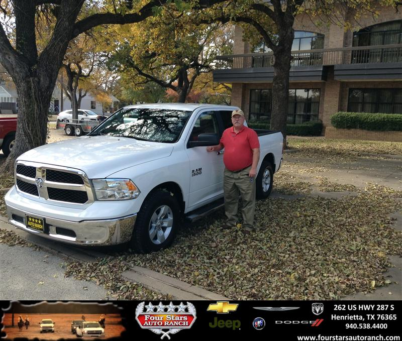 Four Stars Auto Ranch >> Thank you to Jim & Kay Streaky on your new 2013 #Ram #1500 ...