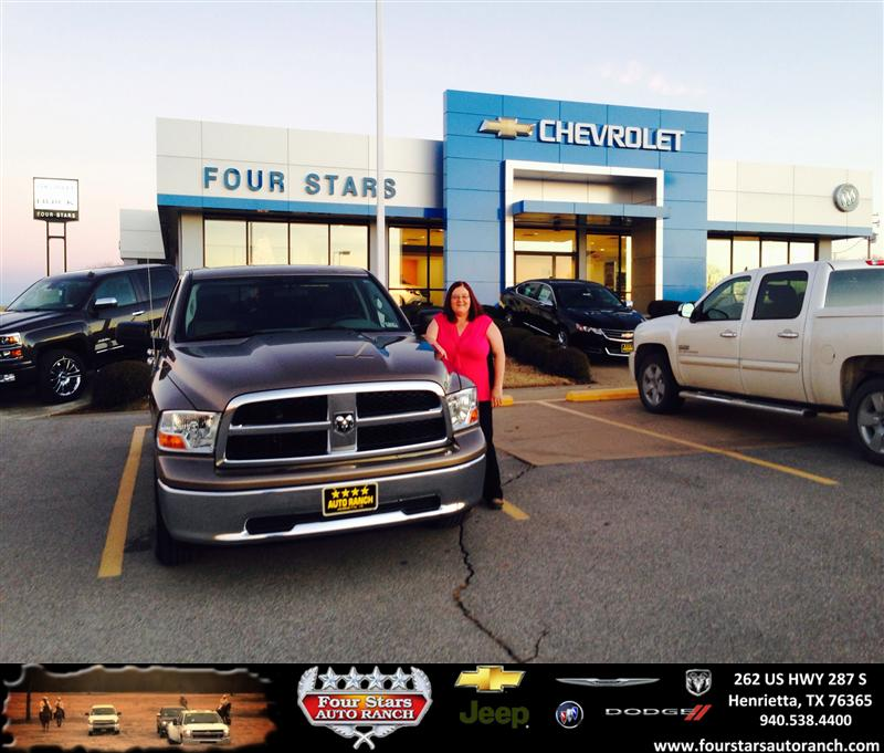 Four Stars Auto Ranch >> Thank you to Ruth Ann Brown on your new 2010 #Dodge #Ram 1 ...