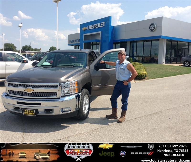 Four Stars Auto Ranch >> Thank you to Johnny Owen on the 2013 Chevrolet Silverado 1 ...