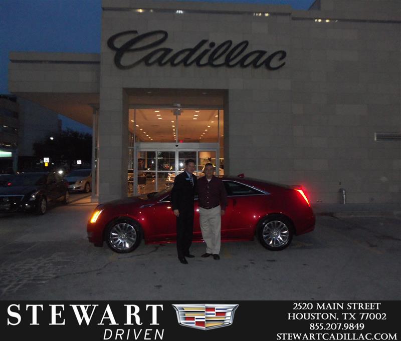 Congratulations To Humobono Pulido On The 2013 Cadillac