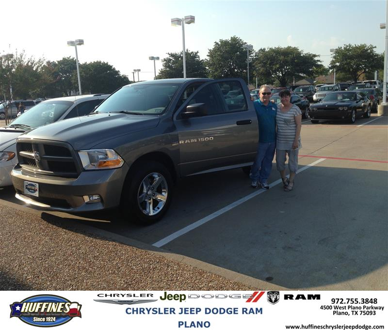 Plano Dodge: Thank You To Gary Jones On The 2012 Ram 1500 From Zach Sta