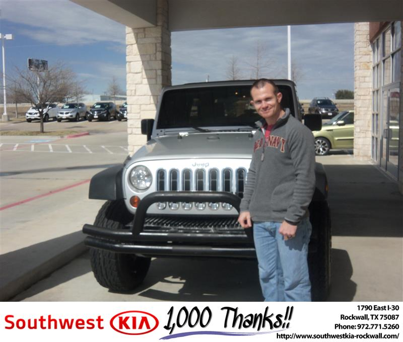Congratulations To Chris Weston On The 2008 Jeep Wrangler