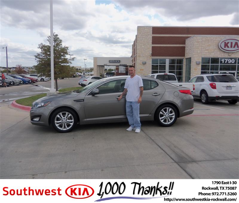 Southwest Kia Rockwall >> Congratulations to Joseph McGann on the 2012 #KIA #Optima | Flickr