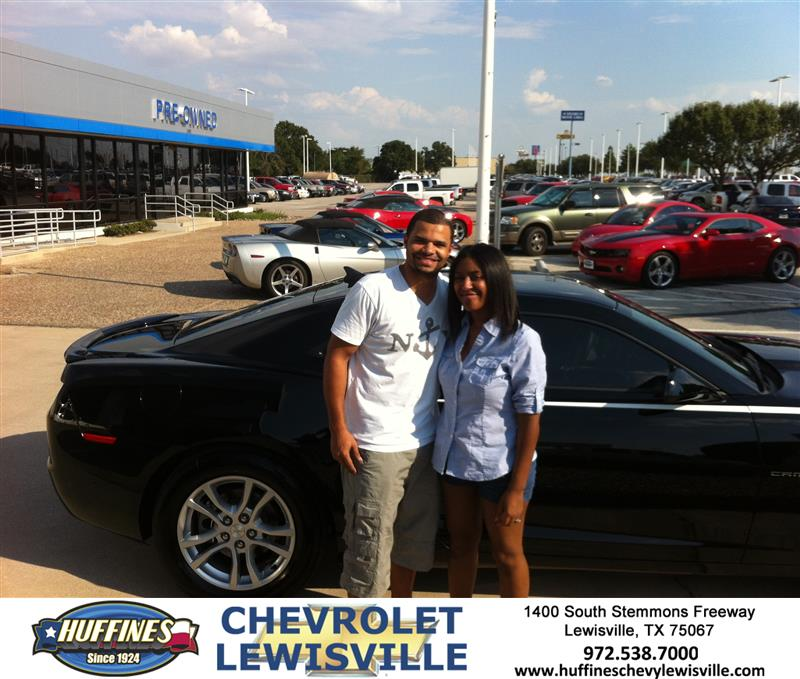 Thank You To Demond Wilson On The 2013 Chevrolet Camaro Fr