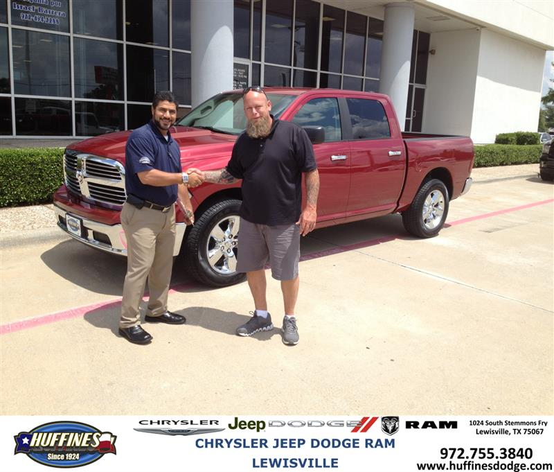 Thank You To Daniel Davis On The 2013 Ram 1500 From Hamed